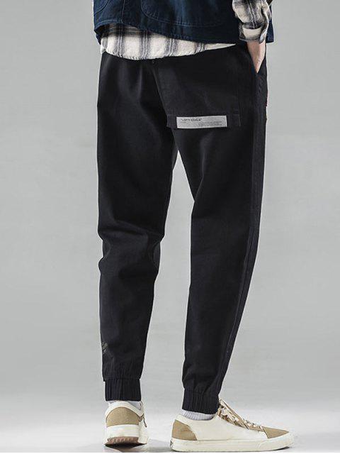 信件模式梁小腳褲 - 黑色 S Mobile