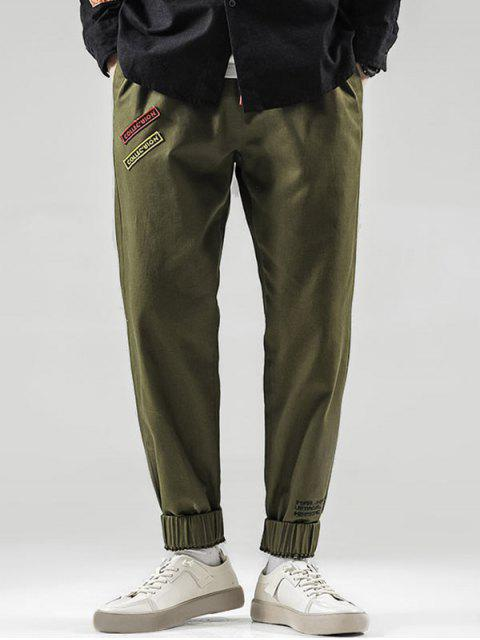 best Letter Pattern Beam Feet Pants - ARMY GREEN M Mobile