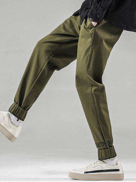 latest Letter Pattern Beam Feet Pants - ARMY GREEN S Mobile