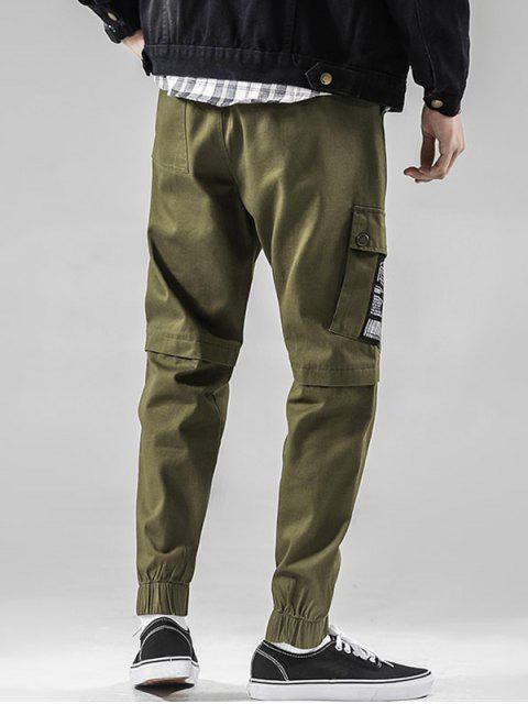 buy Casual Graphic Pattern Drawstring Jogger Pants - ARMY GREEN M Mobile