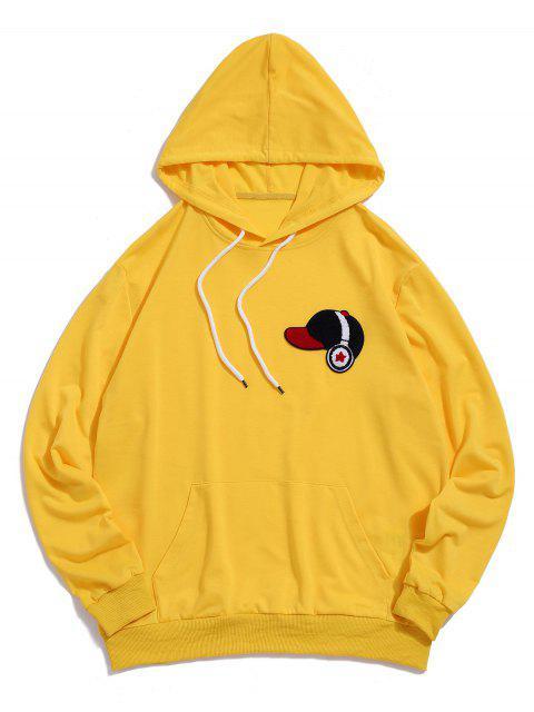 ZAFUL蓬鬆帽耳機抽繩連帽外套 - 黃色 2XL Mobile