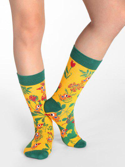 Floral Birds Print Crew Socks - from $5.71