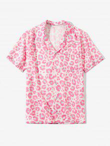 Leopard Print Short Sleeve Shirt