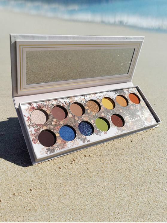 12 colores de maquillaje paleta de sombra de ojos - Multicolor-A