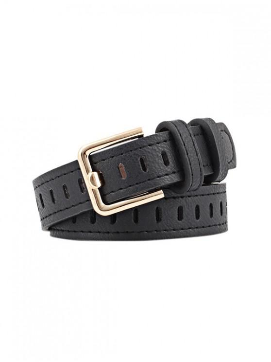 Cinturon de Hebilla Cuadrada - Negro