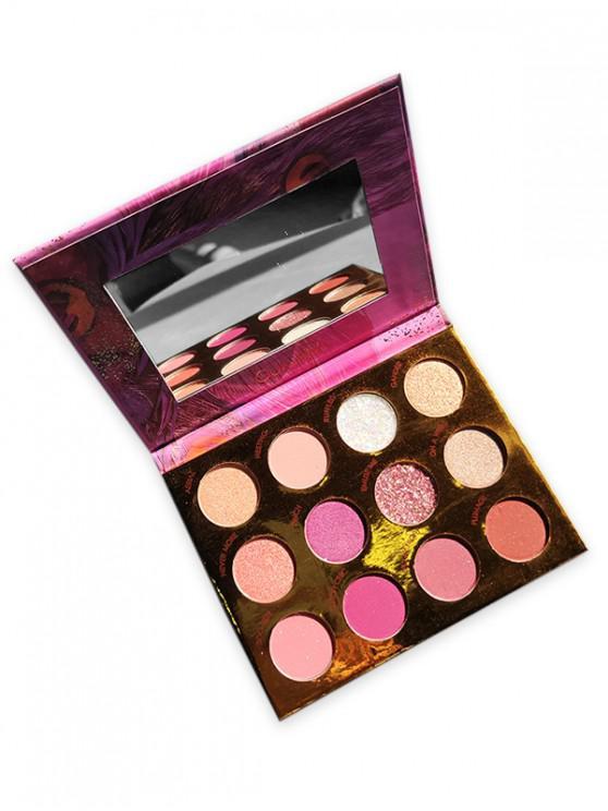 12 brillo de los colores paleta de sombra de ojos - Multicolor-A