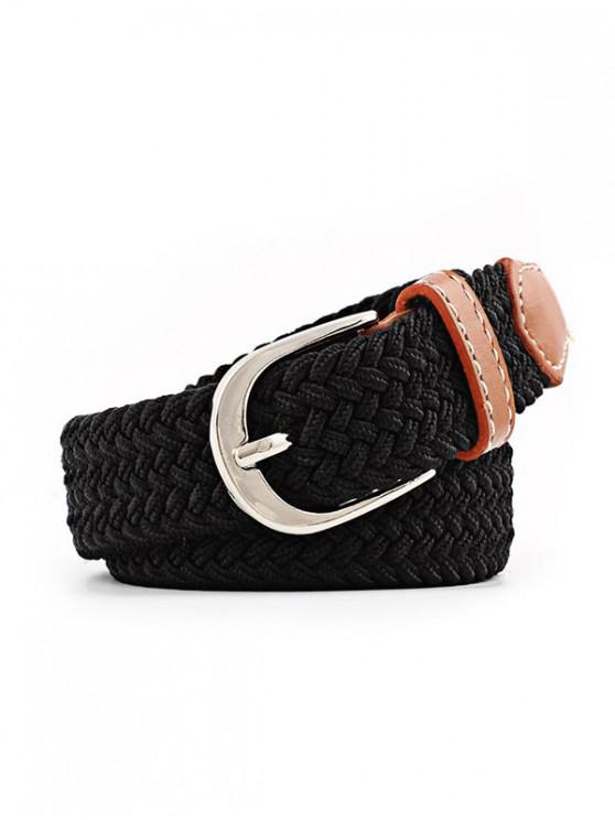 Cinturón Elástico con Hebilla Pin - Negro