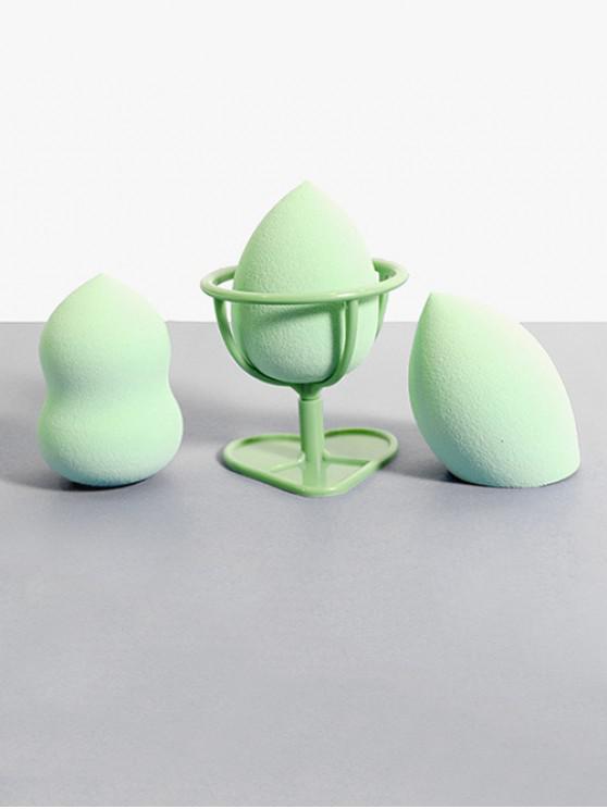 مل 3pcs الرطب والجاف ماكياج أداة النفخة - أخضر