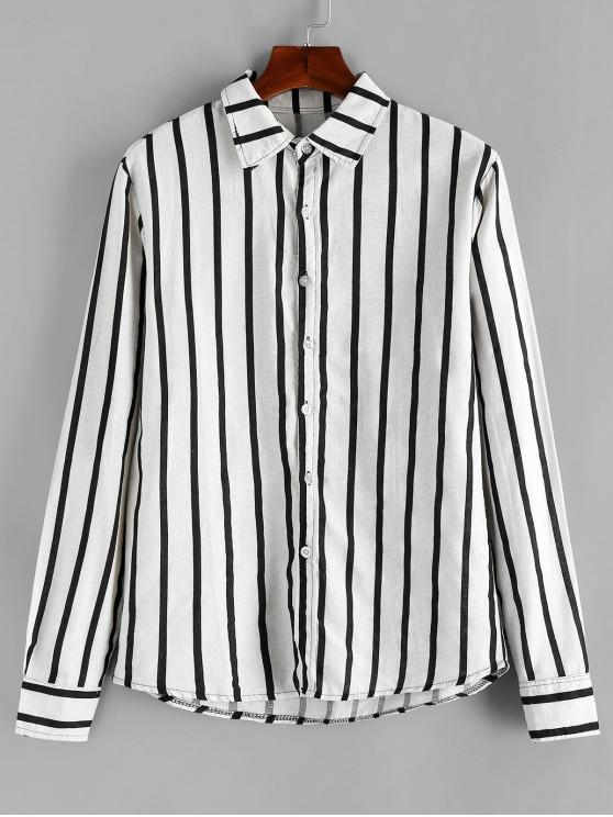 affordable Striped Printed Button Full Sleeves Shirt - MULTI 3XL