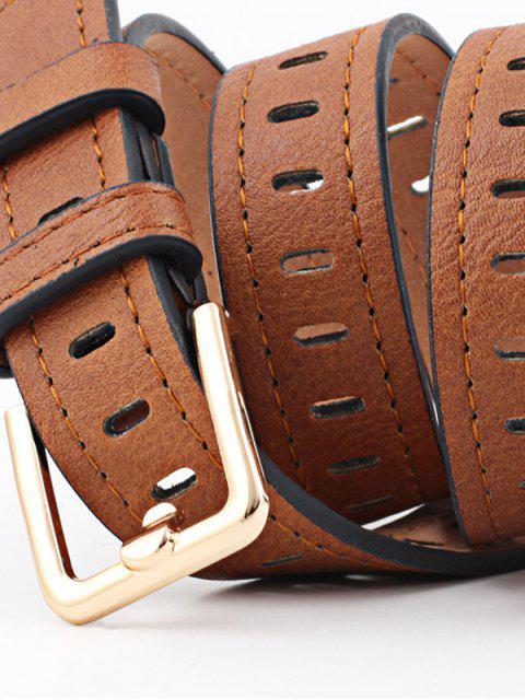Квадратная пряжка Ажурный Пояс - Светло-коричневый  Mobile