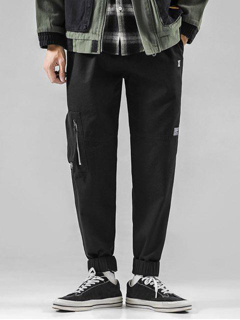 outfit Graphic Pattern Drawstring Casual Jogger Pants - BLACK XL Mobile