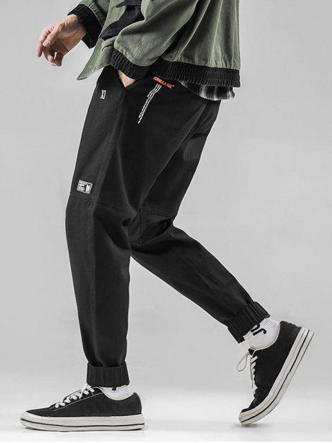 outfits Graphic Pattern Drawstring Casual Jogger Pants - BLACK S Mobile