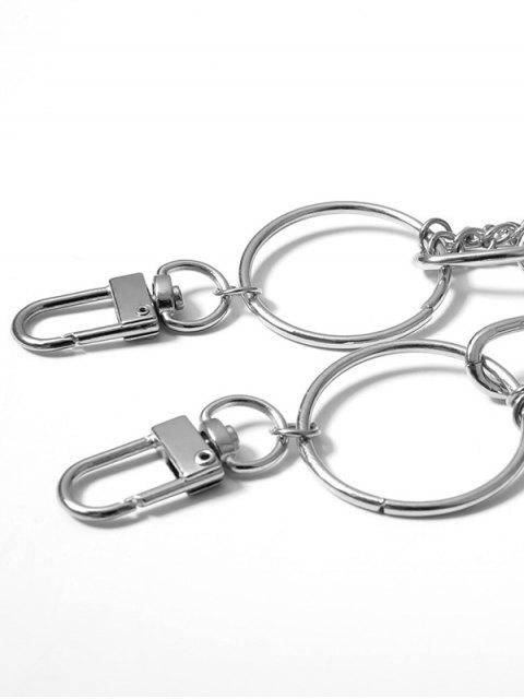women Simple Style Multilayered Keychain Belt - SILVER  Mobile