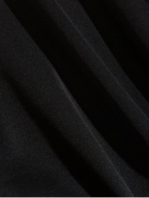 色彩拼接圓領運動衫 - 黑色 XS Mobile