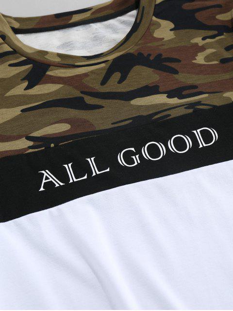 ZAFUL Camiseta de Manga Corta con Estampado de Camuflaje - Multicolor 2XL Mobile