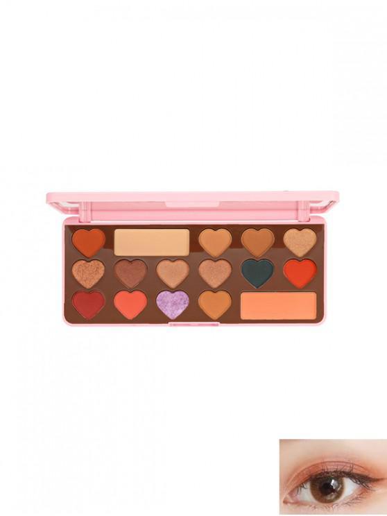 16 Impermeable Color Paleta Sombra de Ojos - Multicolor-C
