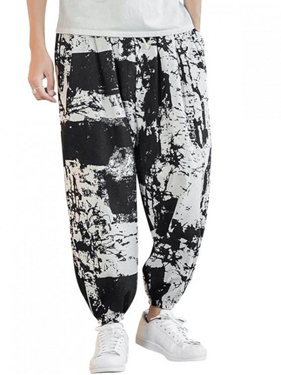 outfits Painting Printed Casual Jogger Pants - MULTI-A 4XL