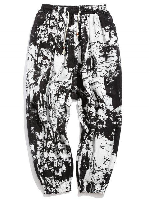 shops Painting Printed Casual Jogger Pants - MULTI-A XL Mobile