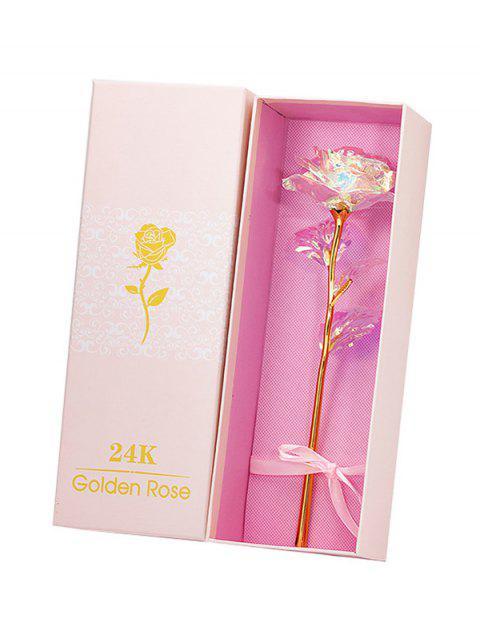 Caja de Flor Colorida Chapado en Rosa Artificial - Multicolor-B  Mobile