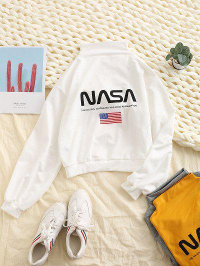 American Flag Drop Shoulder Sweatshirt