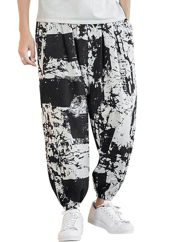 Painting Printed Casual Jogger Pants фото