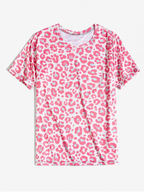 Animal print Leopard T-shirt - Rosa Suino 2XL