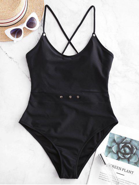 ZAFUL釘交錯單件泳裝 - 黑色 XL Mobile