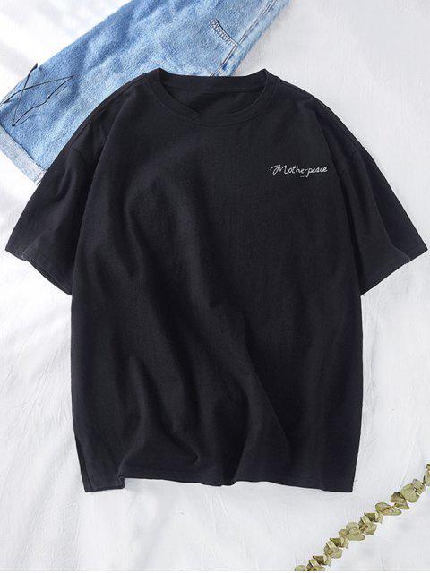 星圖形劍信打印短袖T卹 - 黑色 XS Mobile