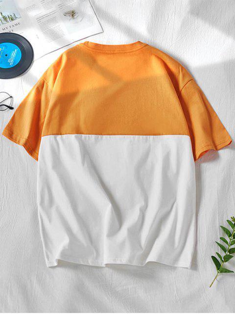 Camiseta de Dos Tonos con Estampado de Dibujo Animado con Flecos - Caucho Ducky Amarillo S Mobile