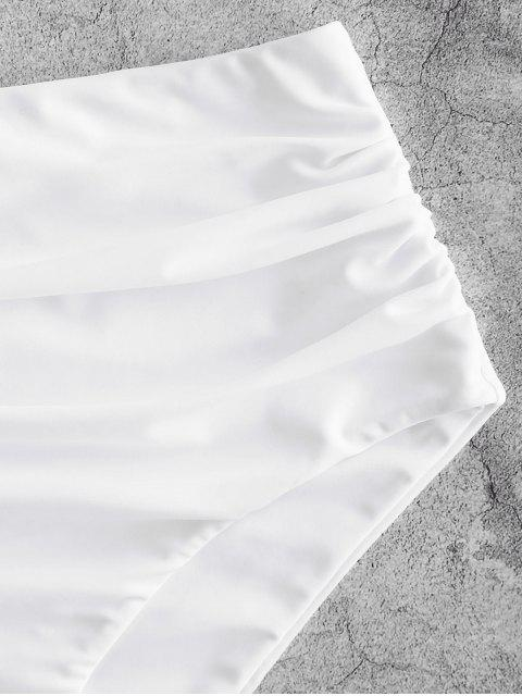 ZAFUL Grüner Salat Reißverschluss Am Meisten Kopfzähne U Ausschnitt Bikini Unterteile - Weiß XL Mobile