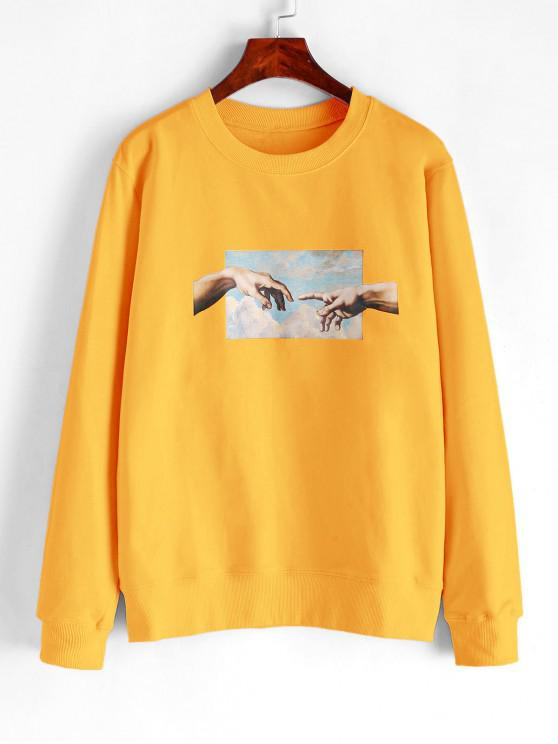 Sweat-shirt de BaseMainGraphique - Jaune M