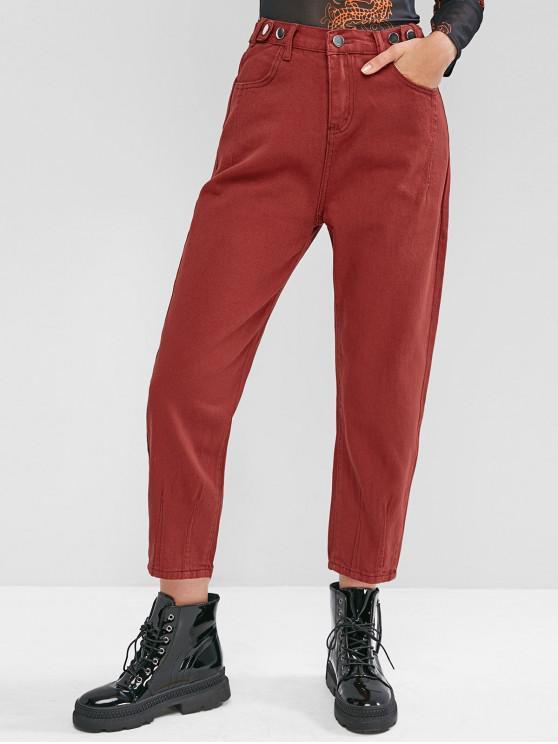 VITA ALTA tasca matita mamma Jeans - Vino Rosso M