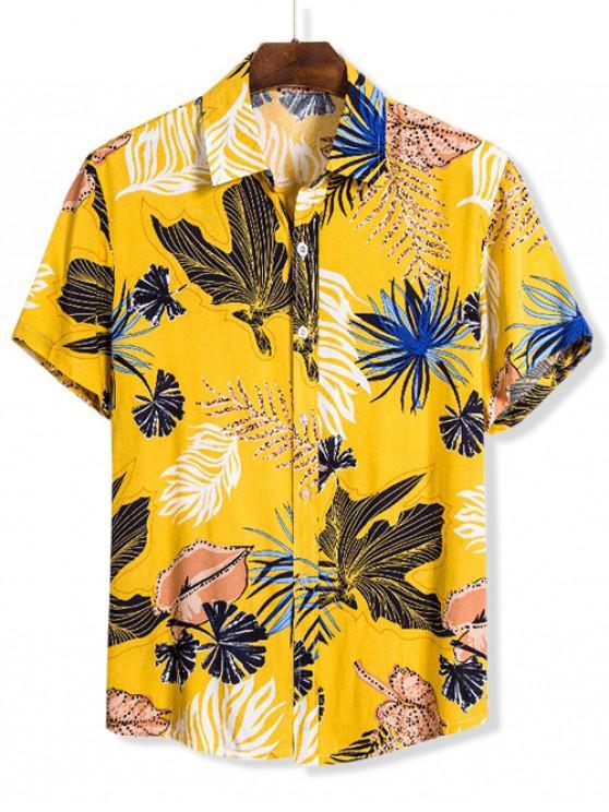 Camisade Manga Cortacon Estampado de FloresHawaii - Multicolor XL