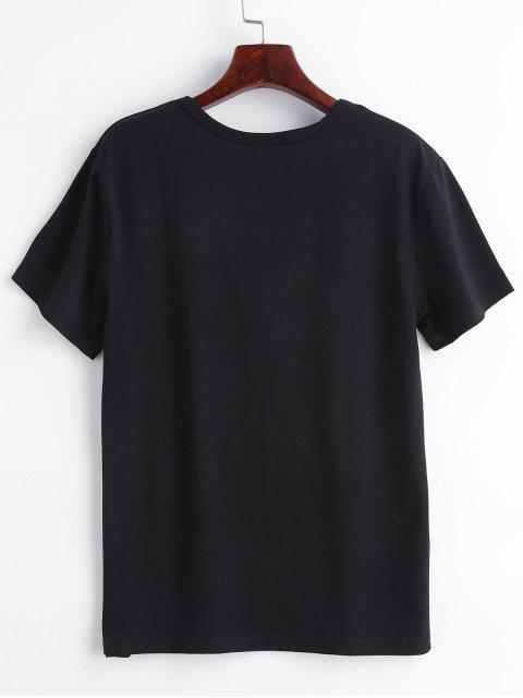 T-shirt Cactus Graphique - Noir XL Mobile
