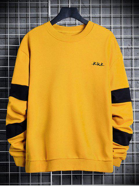 信對比度面板圓領運動衫 - 太陽黃 S Mobile