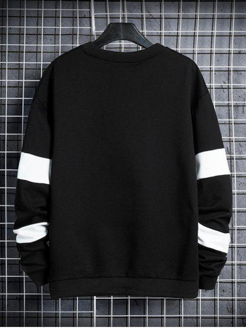 信對比度面板圓領運動衫 - 黑色 M Mobile