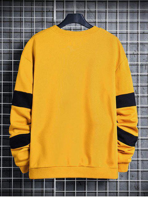 信對比度面板圓領運動衫 - 太陽黃 XS Mobile