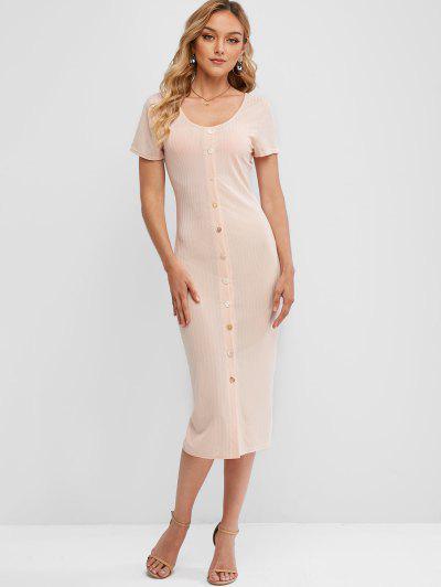 Button Up Sheath Dress