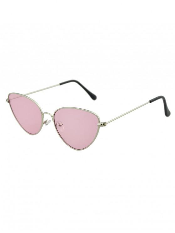 fashion Triangle Retro Metal Sunglasses - LIGHT PINK