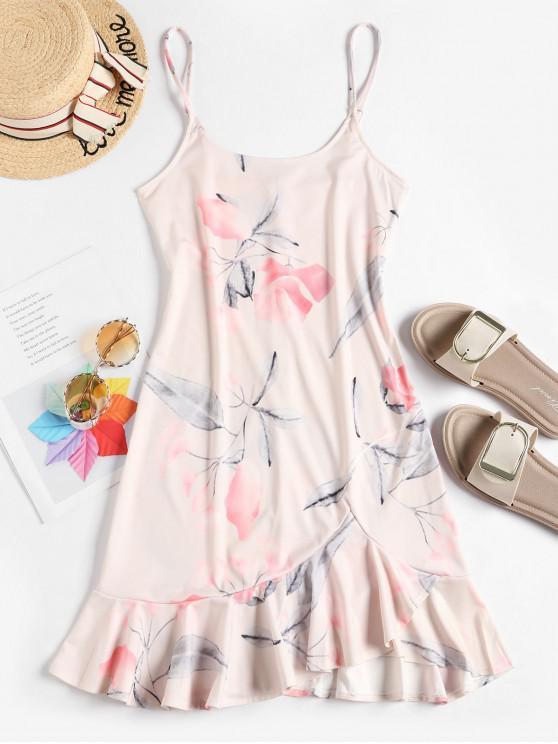 shops Floral Ruffle Cami Dress - PINK L