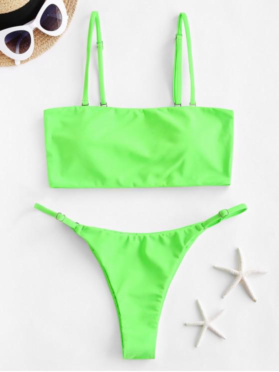 ZAFUL Bikini a Fascia Al Neon - Verde S