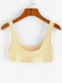 Basic Stripe Crop Top - Sun Yellow M