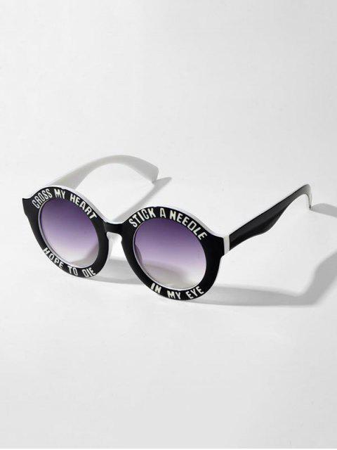 Круглые Солнцезащитные Очки Принт в горошек и буквы - Многоцветный-A  Mobile