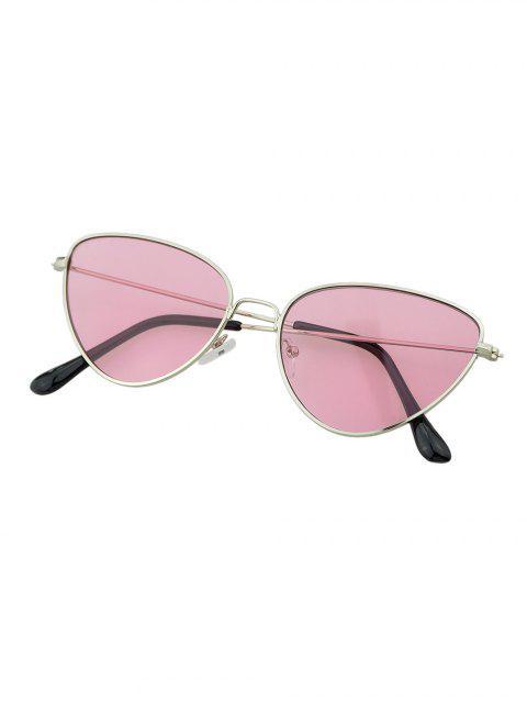 Металл Ретро Солнцезащитные Очки Треугольник - Светло-розовый  Mobile