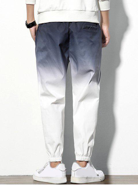 多彩印刷信件模式休閒褲 - 噴射灰色 XL Mobile