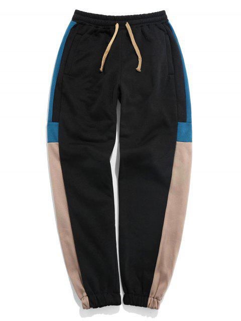 Pantalones Trotar Bloque Color - Tan 3XL Mobile