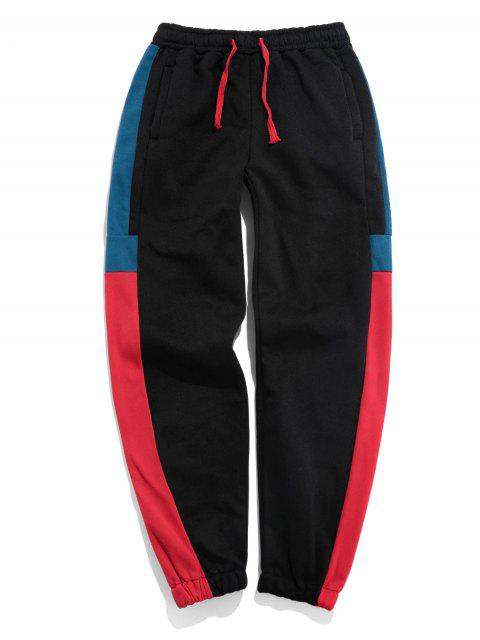 Pantalones Trotar Bloque Color - Rojo Lava 3XL Mobile