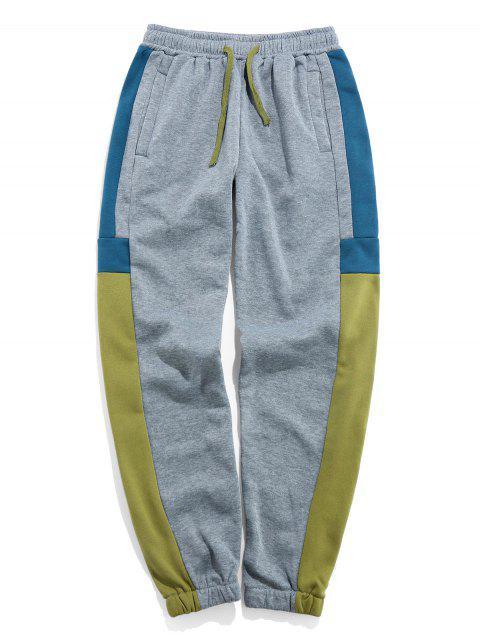 Pantalones Trotar Bloque Color - Verde de Aguacate  3XL Mobile