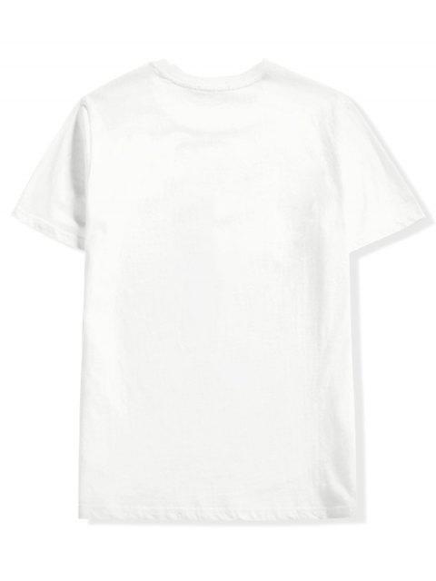 短袖東方信打印休閒T卹 - 白色 XS Mobile