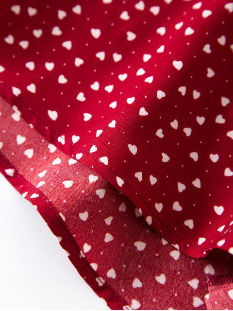 ZAFUL Valentinstag Herzdruck Krawatte Schulter Zweiteiliges Set - Roter Wein L Mobile